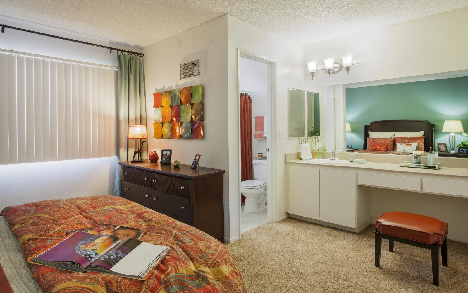 Bedroom at Pacific Oaks Apartments