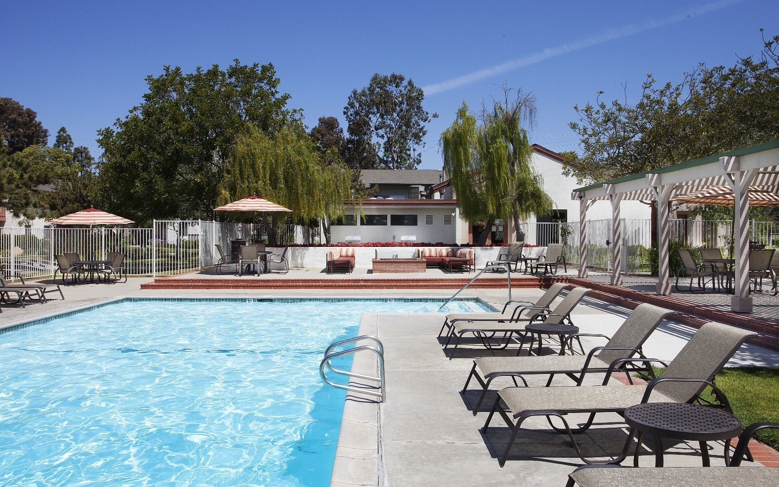 Pool deck at Pacific Oaks Apartments