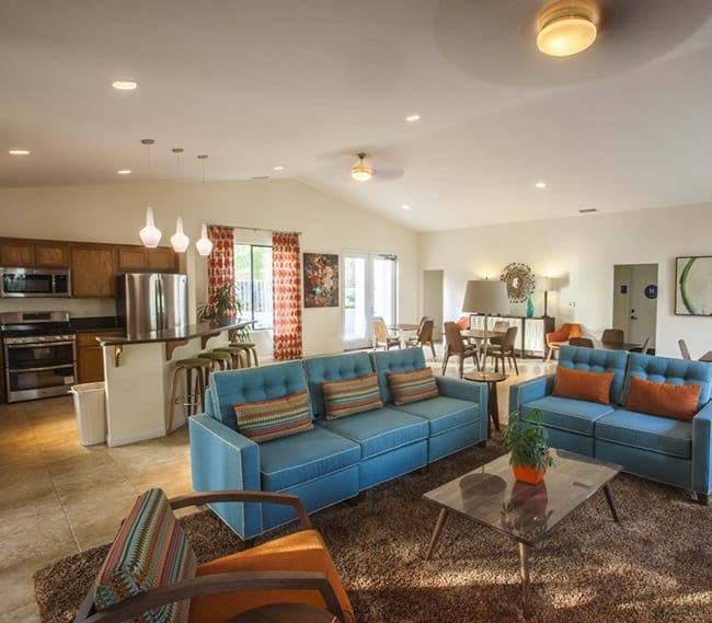 Clubhouse interior at Pacific Oaks Apartments