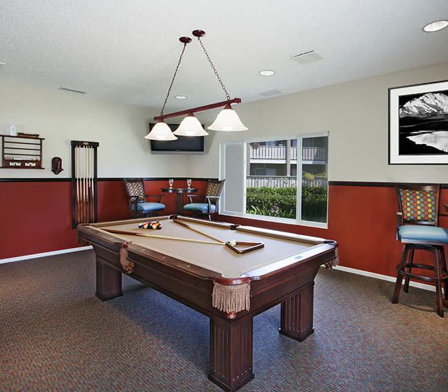 Clubhouse interior at Patterson Place Apartments