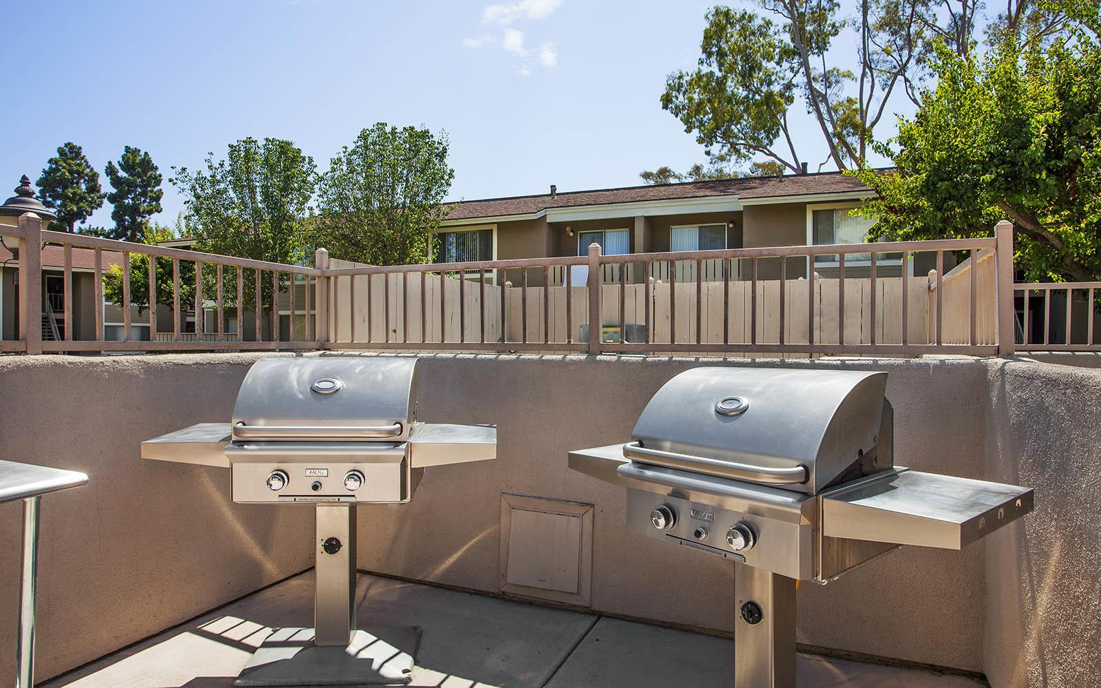 BBQ at Patterson Place Apartments in Santa Barbara