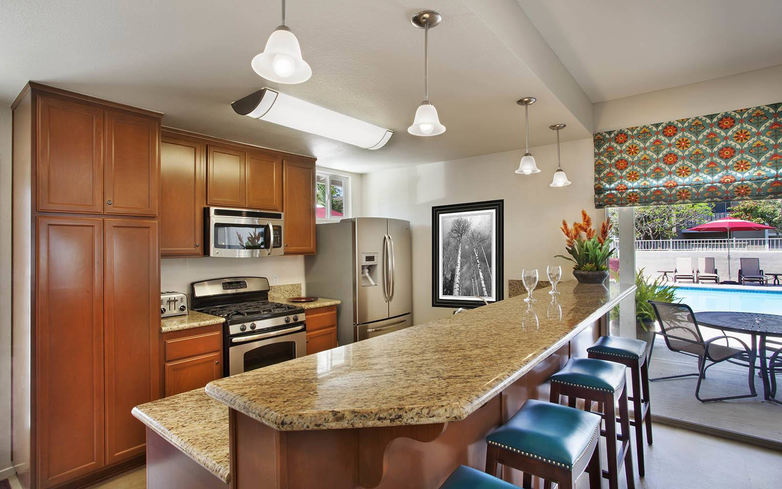 Kitchen at Patterson Place Apartments in Santa Barbara