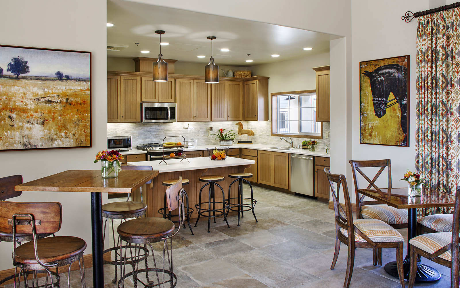 Open Kitchen Area at Siena Apartments in Santa Maria, CA