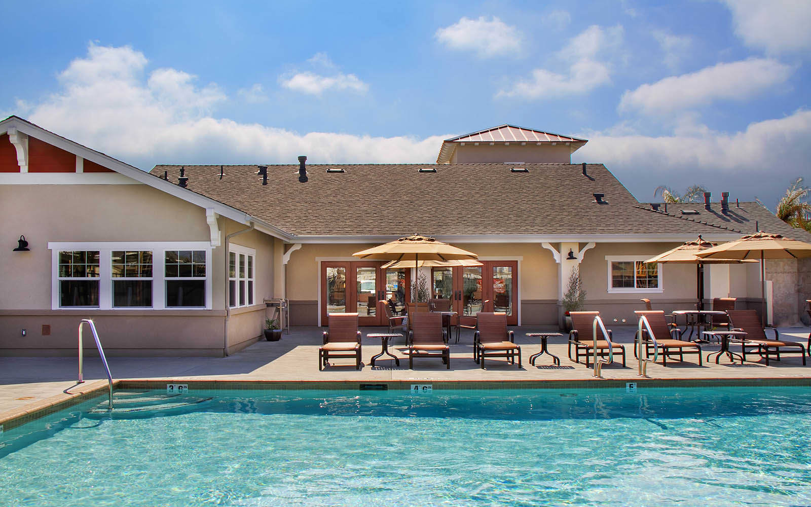 Resort Style Swimming Pool at Siena Apartments in Santa Maria, CA