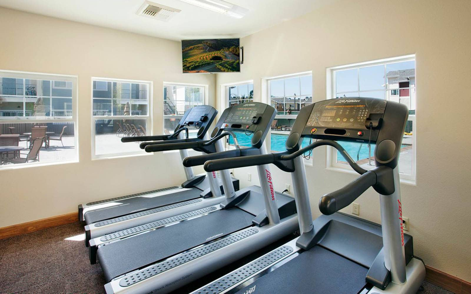 Treadmills at Siena Apartments in Santa Maria, CA