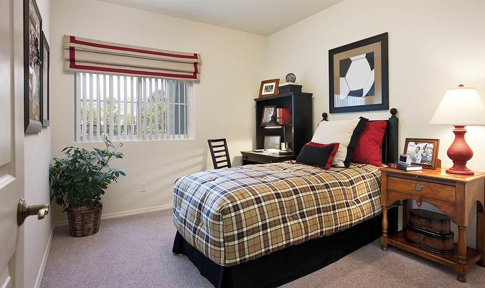Bedroom at apartments in Santa Barbara, CA