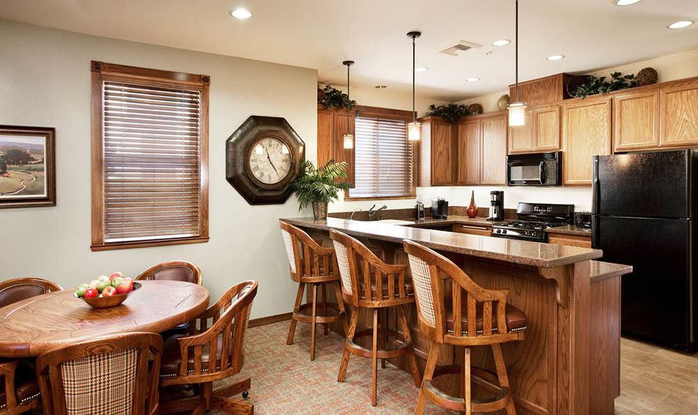 Clubhouse kitchen at apartments in Santa Barbara, CA