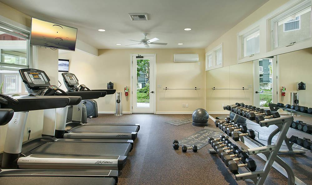 Fitness center at our apartment community