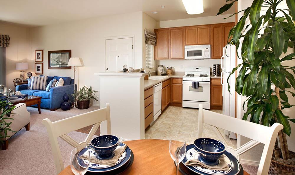 Living area at apartments in Santa Barbara, CA