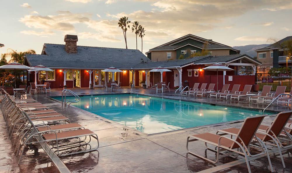 Pool at apartments in Santa Barbara, CA