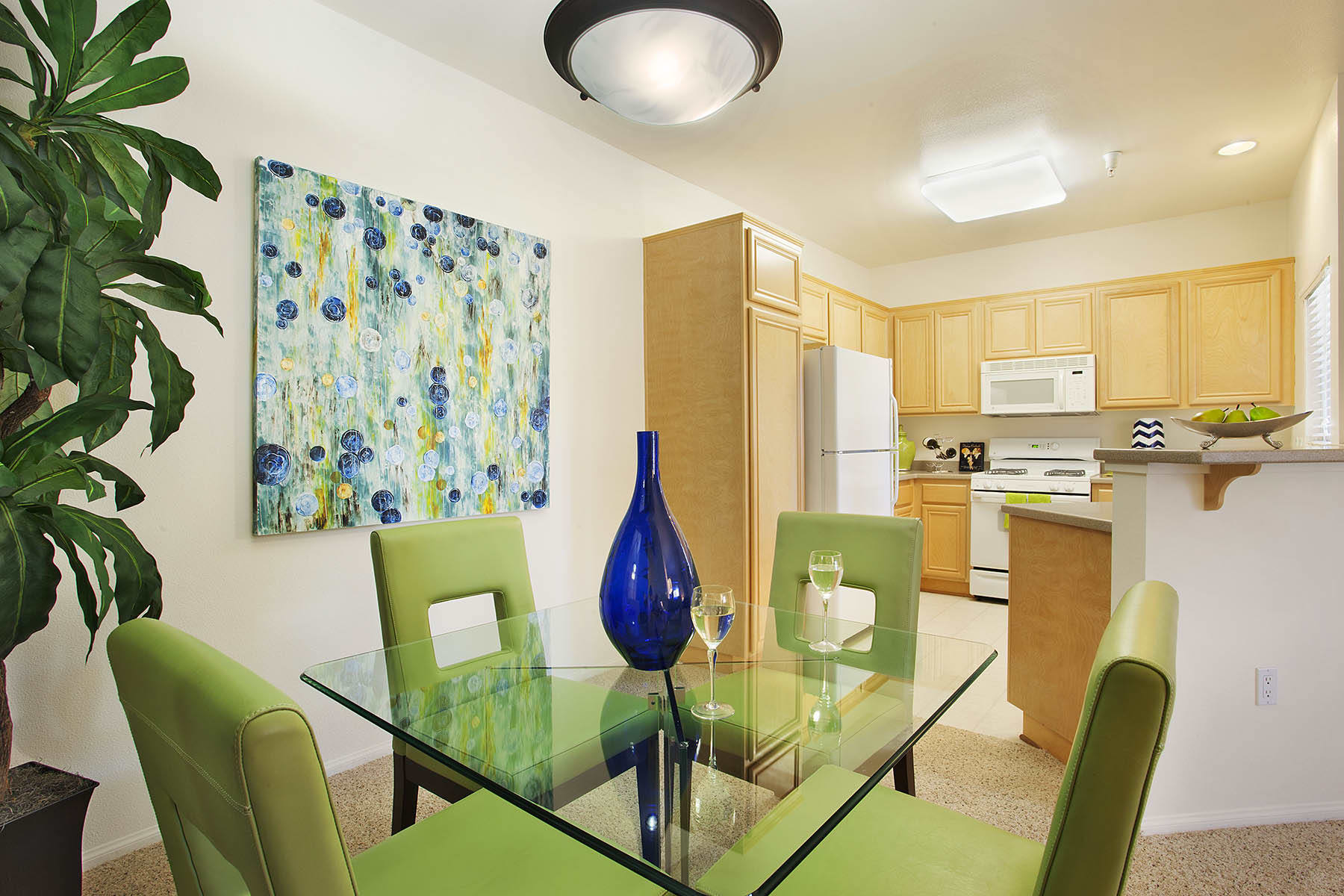 Dining Room at Willow Springs Apartments in Goleta, CA