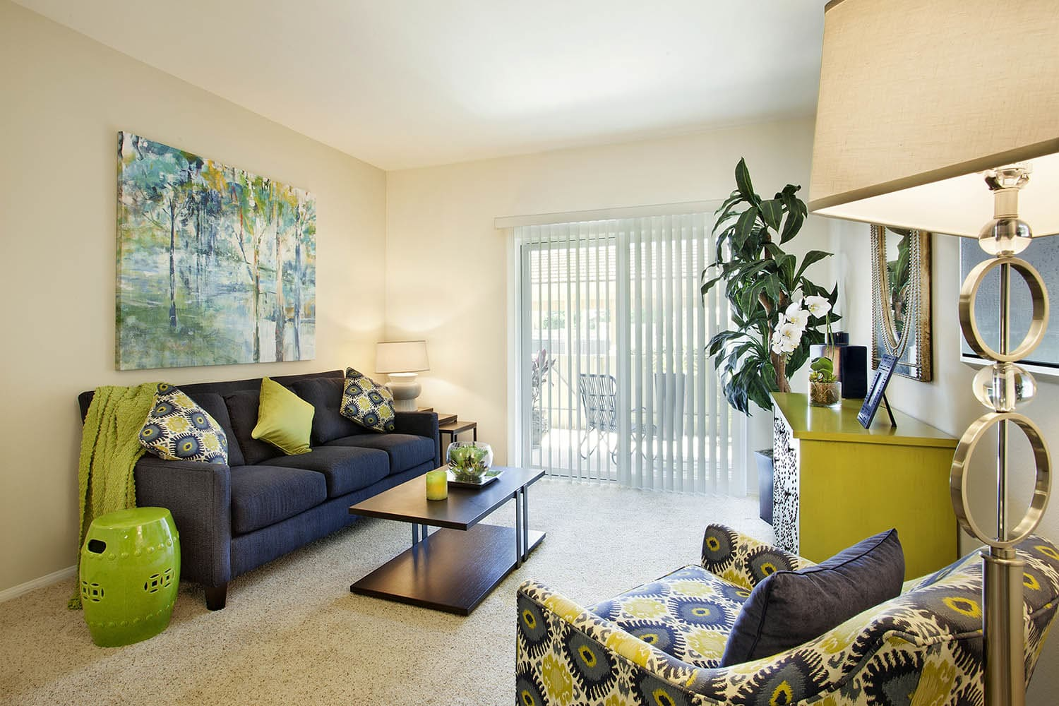 Living Room at Willow Springs Apartments in Goleta, CA