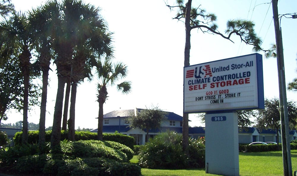 United Stor-All Self Storage Facility Front
