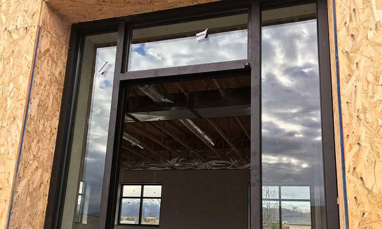 Window of our new location at Towne Storage in Riverton, UT