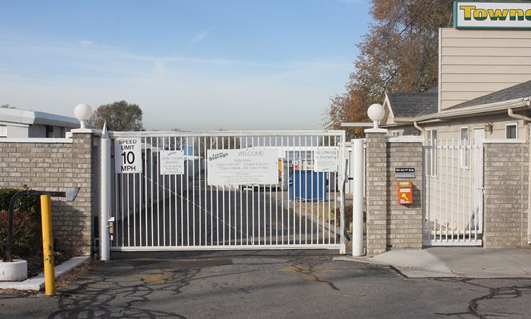 Security gate access at Towne Storage in Clearfield, UT