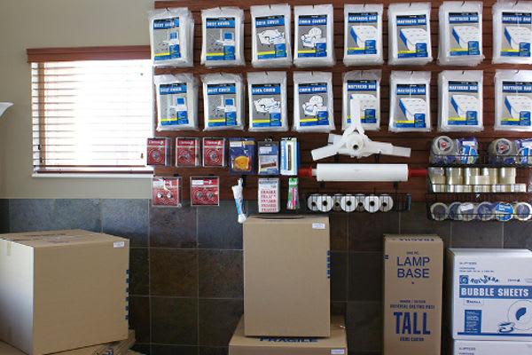 Packing supplies at Towne Storage in Orem, Utah