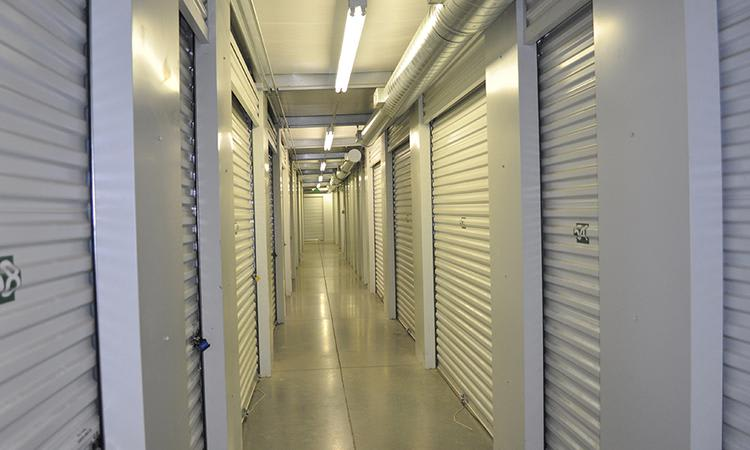 Clean and well-illuminated units at Towne Storage in Saratoga Springs, UT
