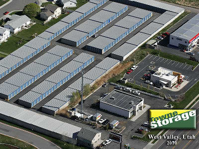 Aerial view of Towne Storage