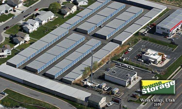 Aerial view of Towne Storage in West Valley, UT