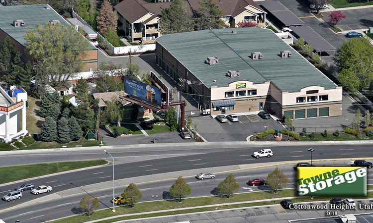 Aerial view of Towne Storage in Cottonwood Heights, UT