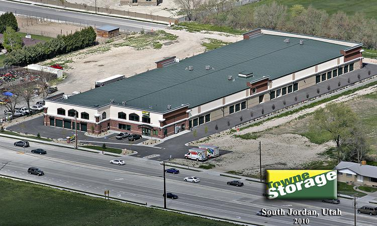 Aerial view of Towne Storage in South Jordan, UT