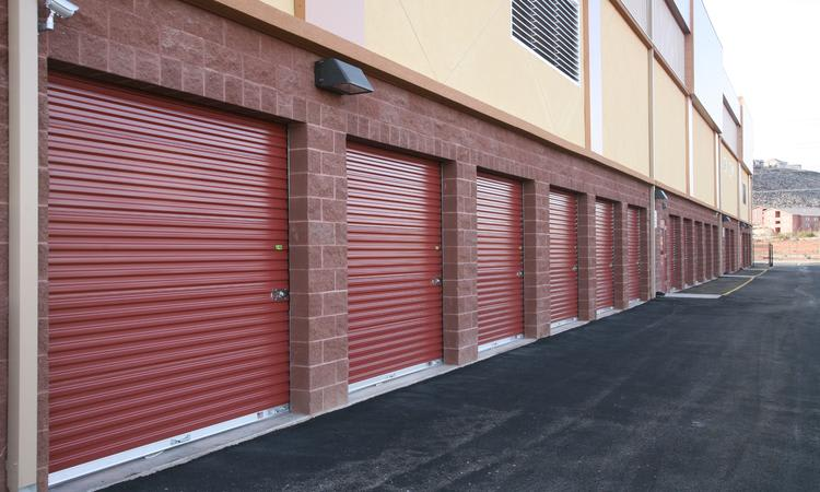 Paved lot and units with access for large vehicles at Towne Storage in St George, UT