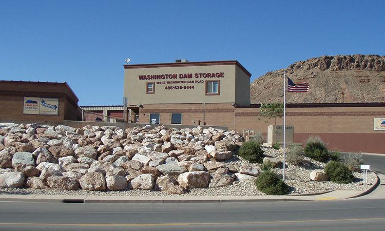 Outside the Towne Storage facility in Washington Utah