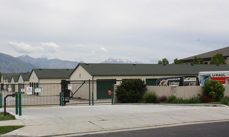 Exterior view of our main entrance at Towne Storage in Riverton, UT