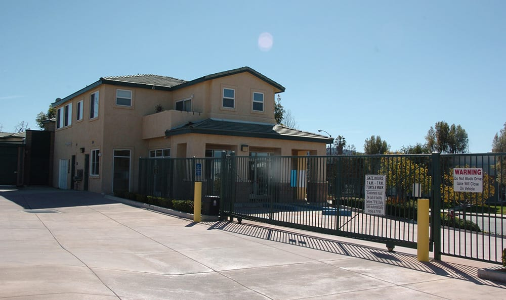 West Simi Lock-Up Self Storage has gated, drive up access.
