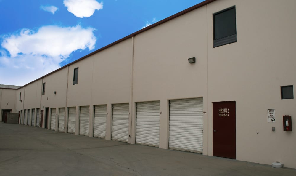 San Dimas Lock-Up Self Storage has easy access roll-up doors.