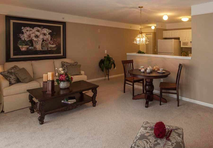Open floor plans at Waltonwood Cherry Hill in Canton, MI