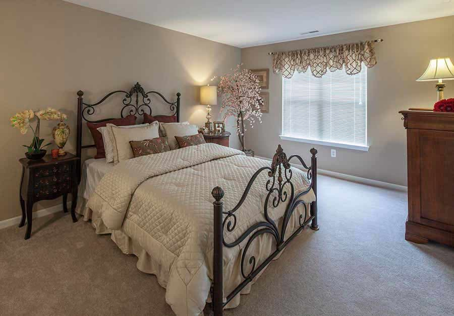 Bedroom at Waltonwood Cherry Hill in Canton, MI