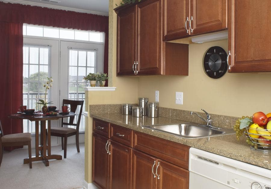 Kitchen at Waltonwood Lakeside in Sterling Heights, MI