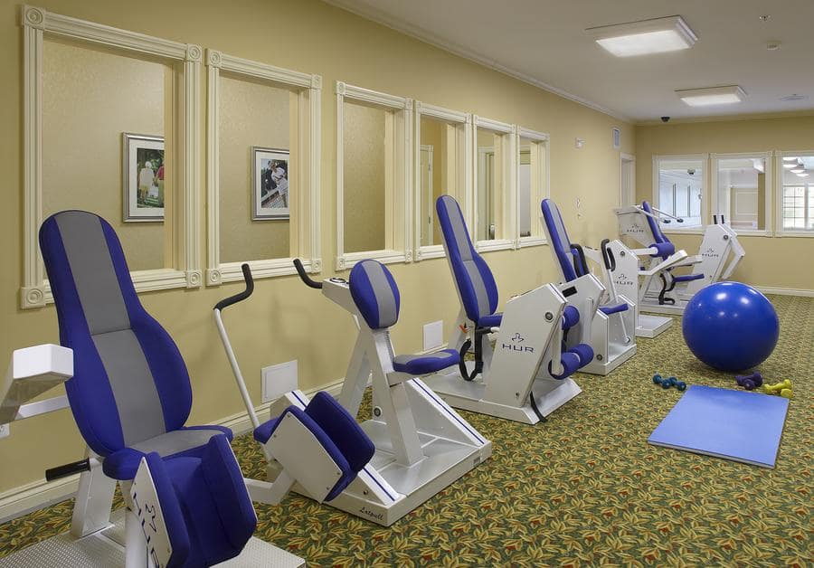 Waltonwood Lakeside offers a fitness center in Sterling Heights, MI