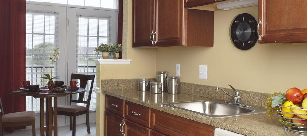 Kitchen at independent living facility in Sterling Heights, MI