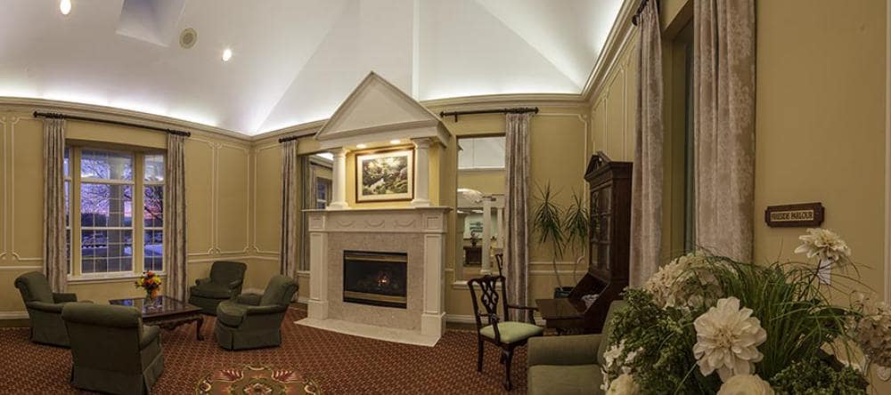 Senior apartments in Novi, MI with a fireplace