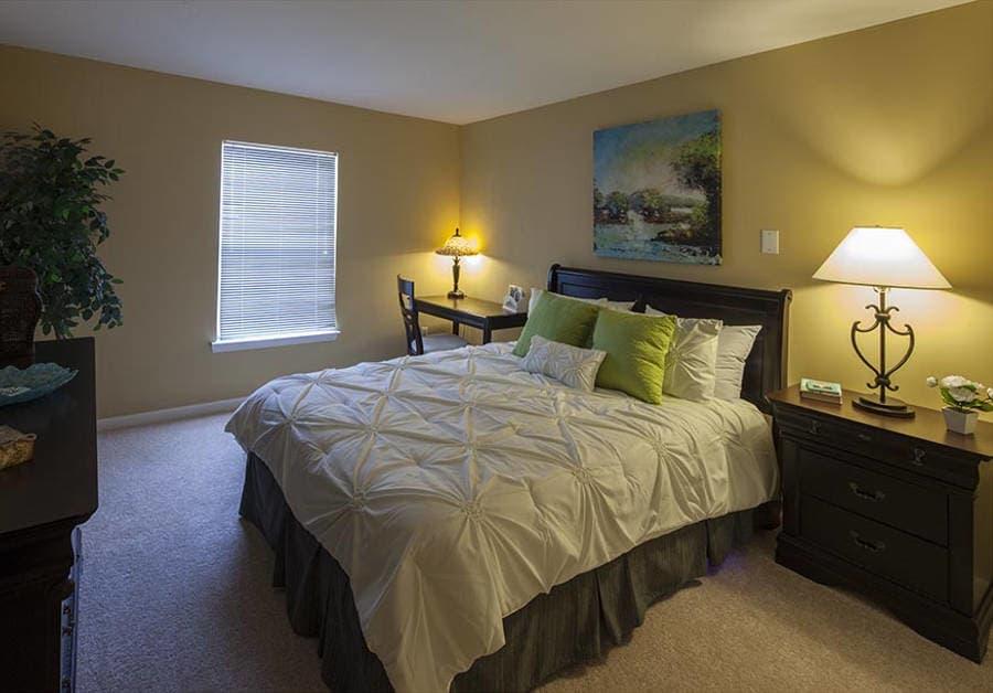 Bedroom at Waltonwood Twelve Oaks in Novi, MI