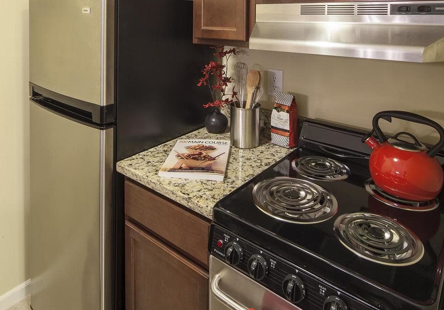 Kitchen at Waltonwood University in Rochester Hills, MI