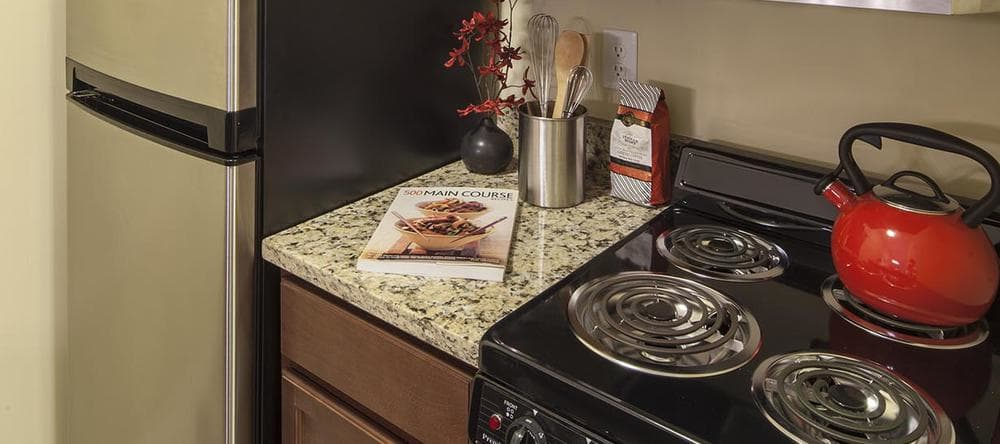Kitchen at our independent living facility in Rochester Hills, MI