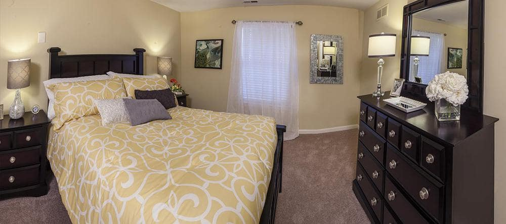 Bedroom at independent living facility in Rochester Hills, MI