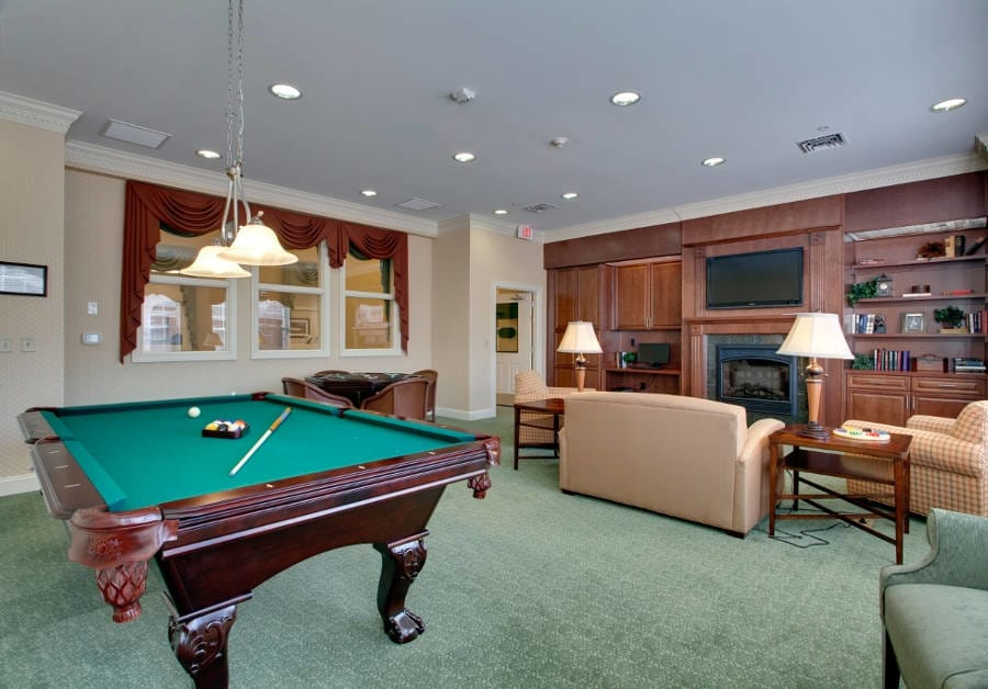 Waltonwood Cary Parkway offers a game room in Cary, NC