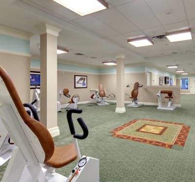 Fitness center at Waltonwood Cary Parkway in Cary, NC