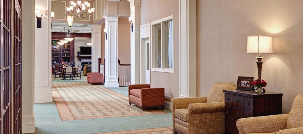 Common room at assisted living facility in Ashburn, VA