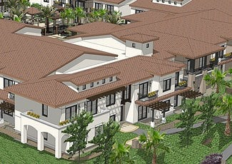 Exterior Rendering Of Rancho Cucamonga Senior Living Facility