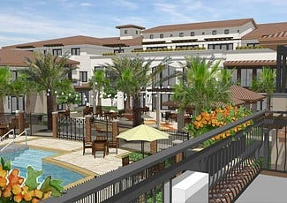Rendering of our senior living facility in Rancho Cucamonga