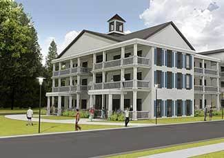 Exterior of Mount Pleasant senior living facility