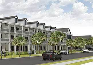 Rendering of our senior living facility in Mount Pleasant