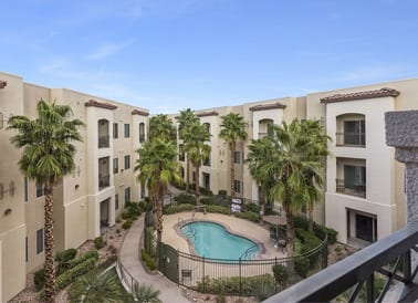 Beautiful exterior to senior living in Henderson, NV