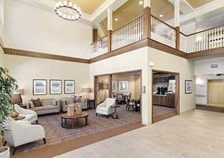 Lobby of our senior living facility in Oceanside