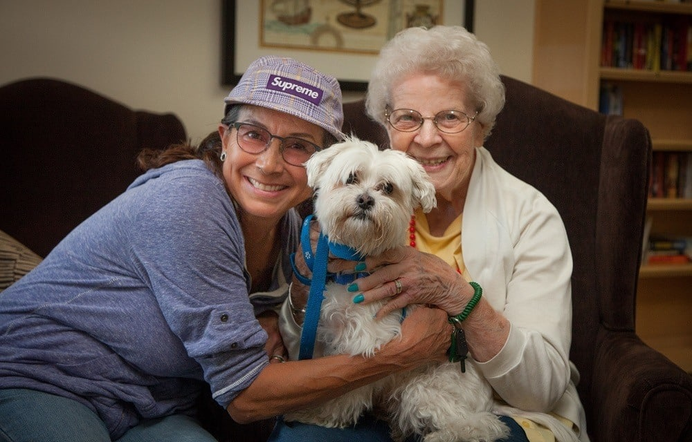 Residents enjoying their pet at MG OCeanside